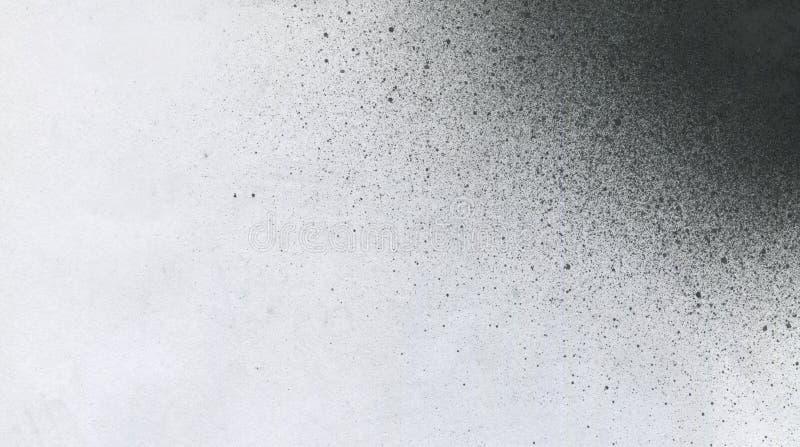 ОЧЕНЬ разрешение ВЫСОТЫ Обои с влиянием airbrush Черная текстура хода акрила на белой бумаге Разбросанная грязь стоковое фото rf