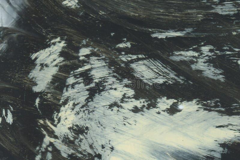 ОЧЕНЬ разрешение ВЫСОТЫ Ход акварели Обои с влиянием акварели Черная текстура хода акрила на белизне стоковое изображение