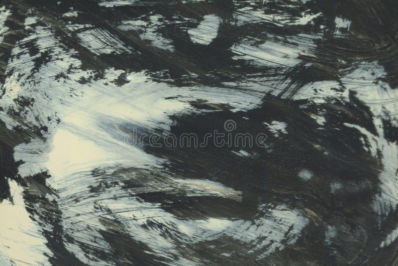 ОЧЕНЬ разрешение ВЫСОТЫ Ход акварели Обои с влиянием акварели Черная текстура хода акрила на белизне стоковое изображение rf