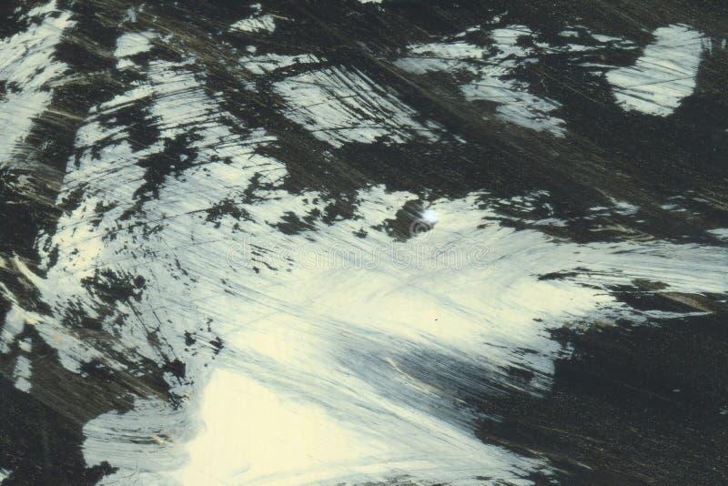 ОЧЕНЬ разрешение ВЫСОТЫ Ход акварели Обои с влиянием акварели Черная текстура хода акрила на белизне стоковое фото
