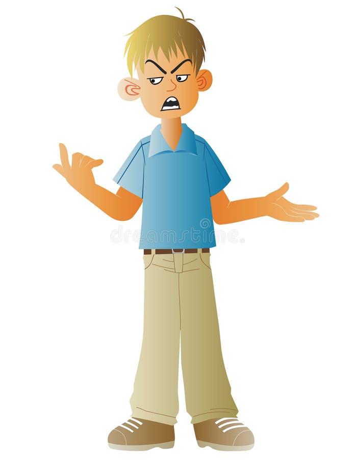Очень сердитый подросток иллюстрация штока
