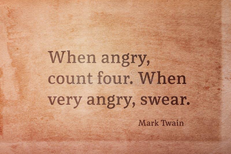 Очень сердитый Twain стоковое фото rf