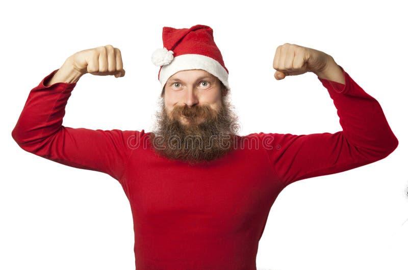 Очень сильное Santa Claus стоковые изображения rf