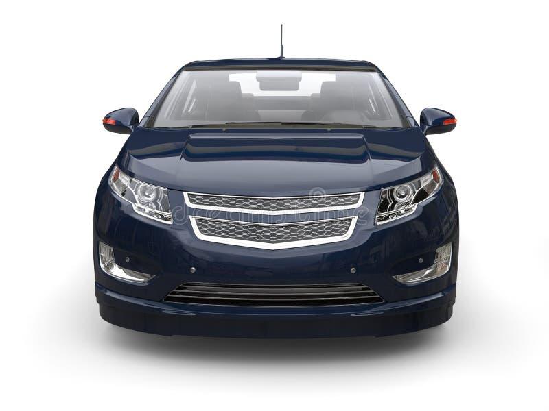 Очень синее современное электрическое автомобильное вид спереди иллюстрация штока