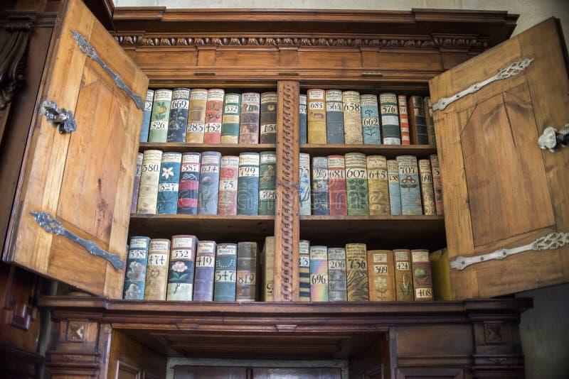 очень старые книги в соборе St Vitus стоковые изображения rf