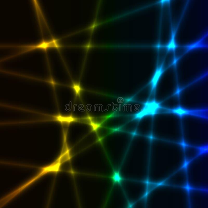 Очень темная предпосылка с весной blured лучи лазера бесплатная иллюстрация