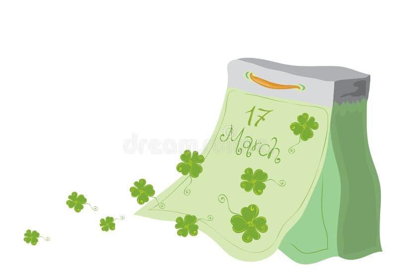 Очень удачливый день St Patricks иллюстрация штока