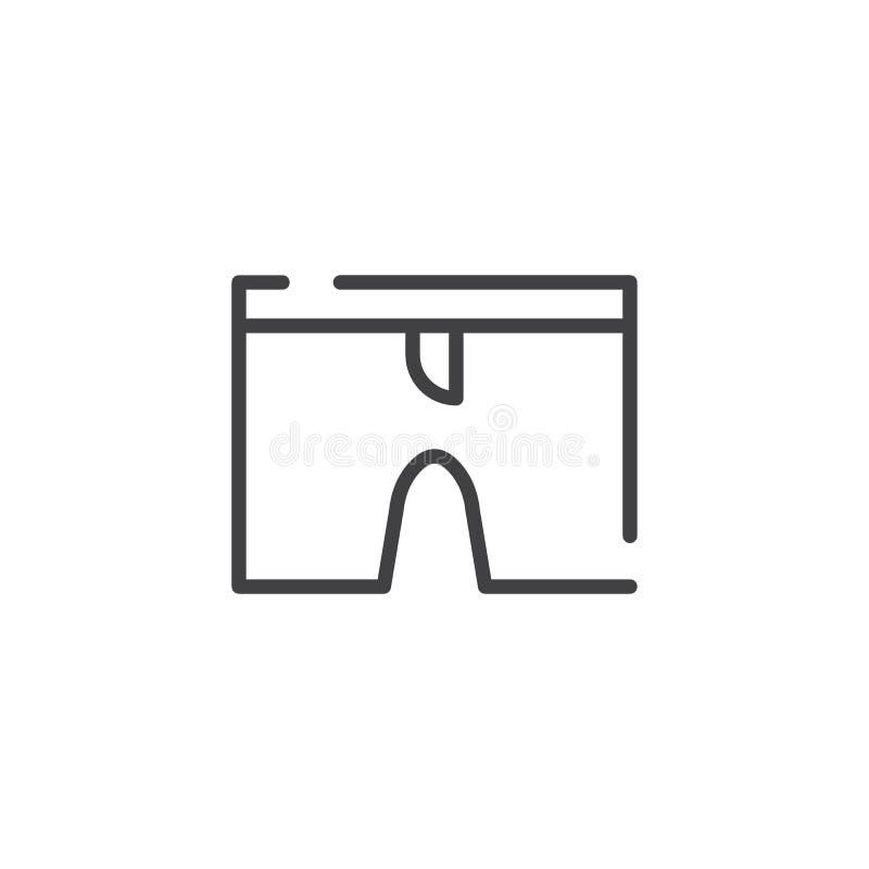 Очистите линию шортов значок иллюстрация вектора