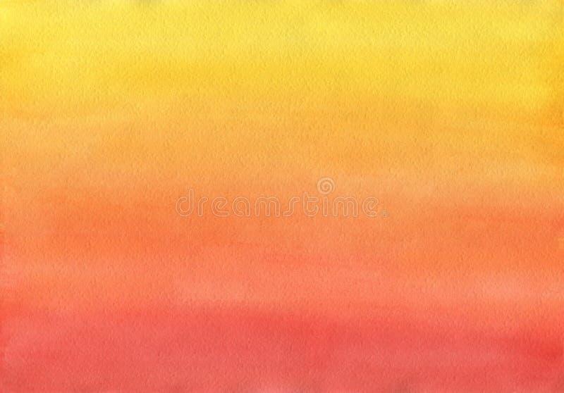 Очистите теплый градиент формы предпосылки акварели бесплатная иллюстрация