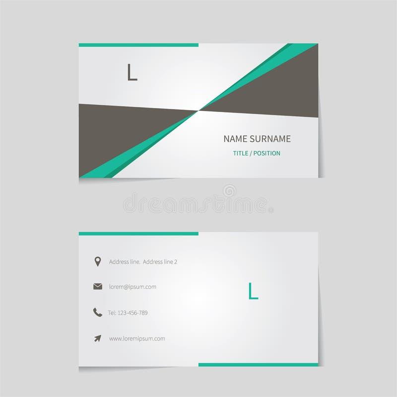 Очистите шаблон визитной карточки иллюстрация штока
