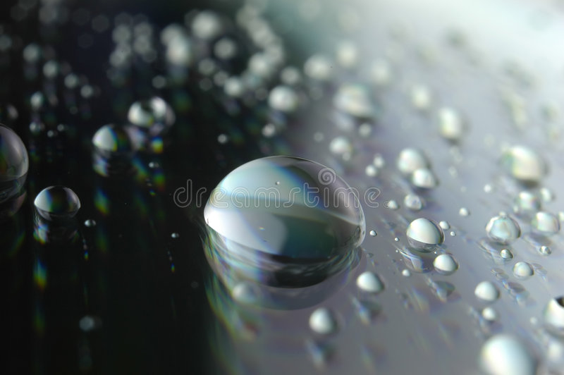 очистьте воду падения стоковое изображение rf