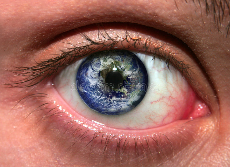 очистьте зрение земли стоковые изображения rf