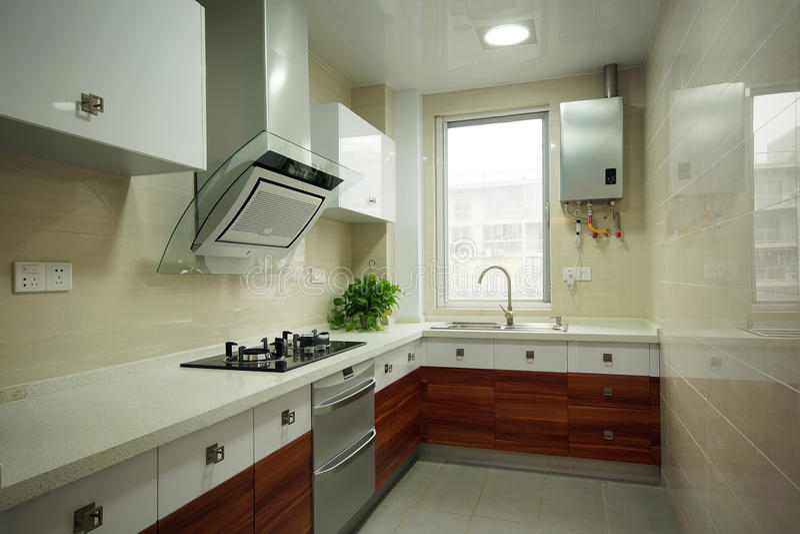 Очистьте кухню стоковое фото