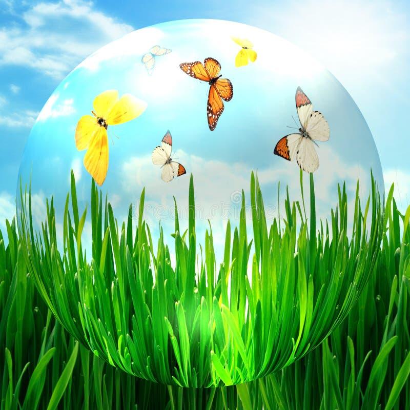 очистьте солнечный мир иллюстрация штока