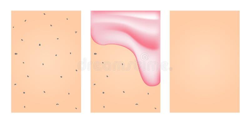 Очищать геля мыла бактерии на коже иллюстрация штока