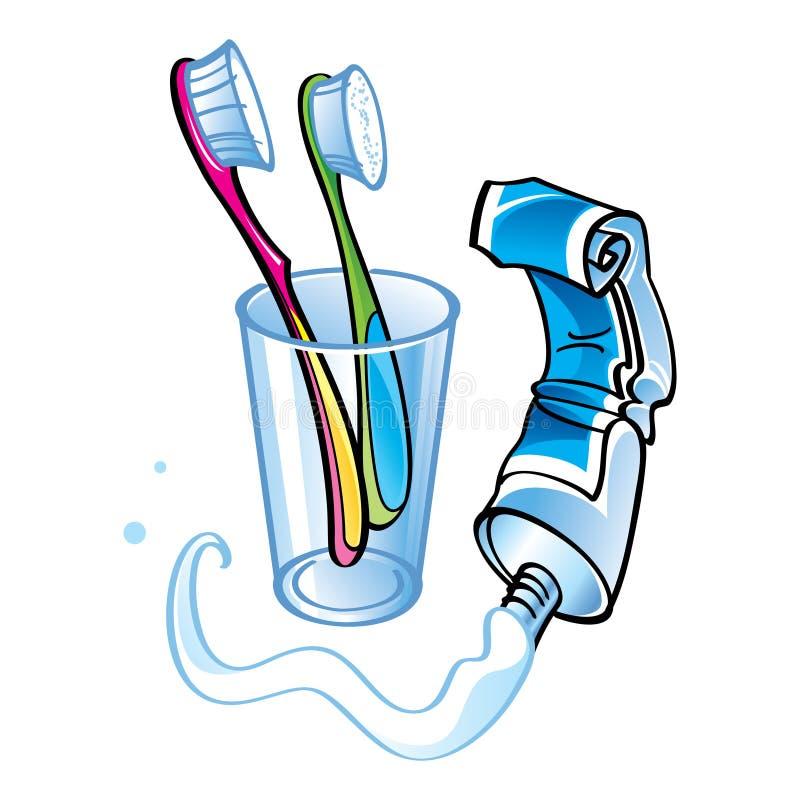 Очищать зубов иллюстрация вектора