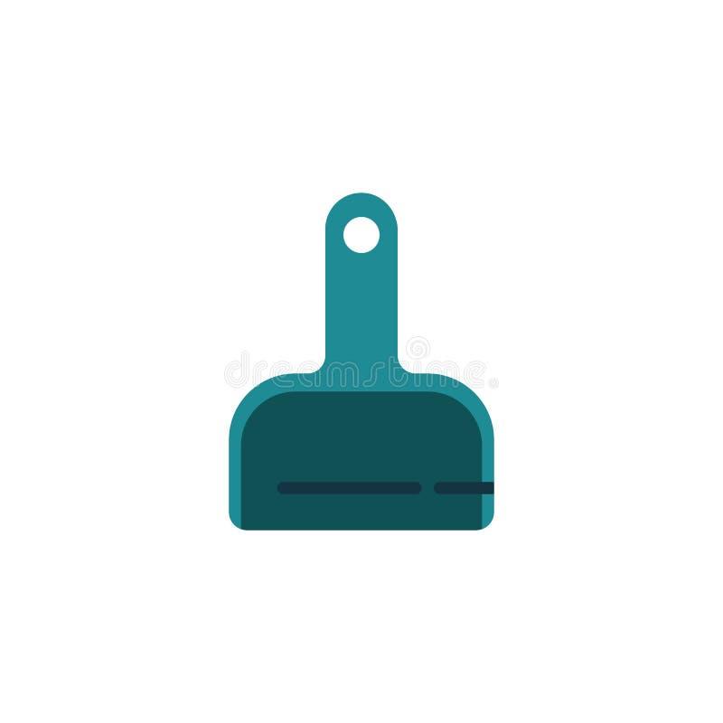 Очищая значок dustpan плоский бесплатная иллюстрация