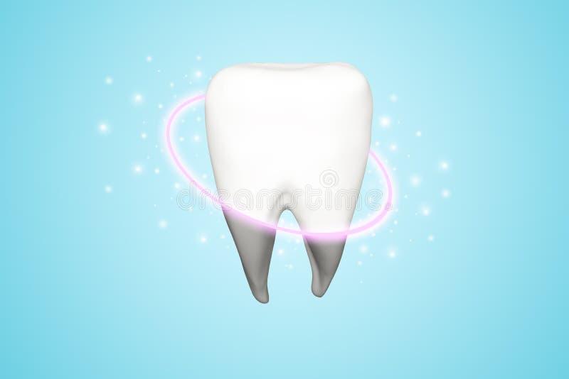 Очищая зубы от серого цвета металлической пластинкы стоковое изображение