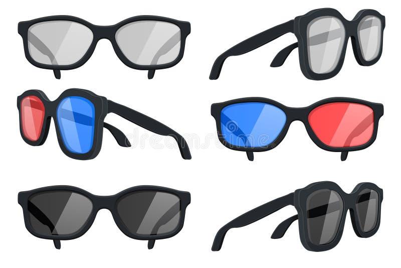 Очки Коллекция иллюстрация вектора