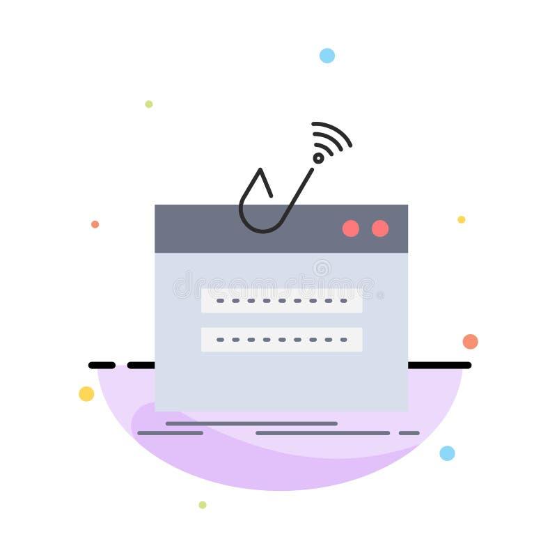 очковтирательство, интернет, имя пользователя, пароль, вектор значка цвета похищения плоский бесплатная иллюстрация