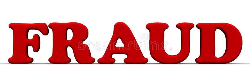 очковтирательство Красное слово иллюстрация штока