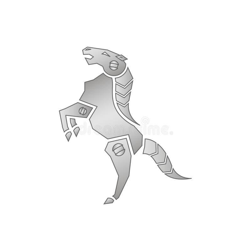 лошадь механически бесплатная иллюстрация