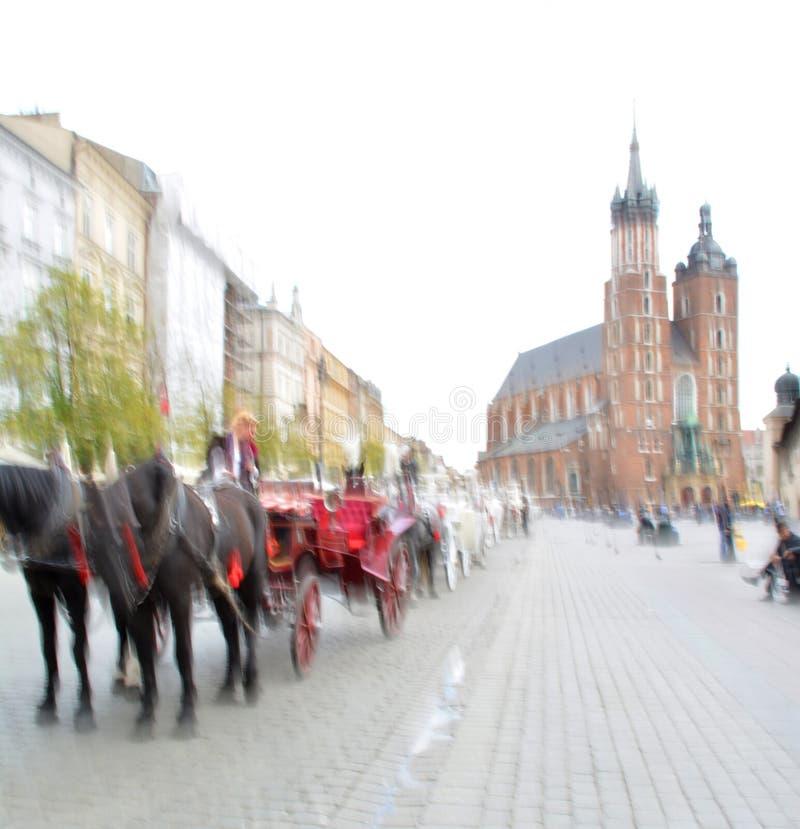 лошадь нарисованная экипажами стоковое фото