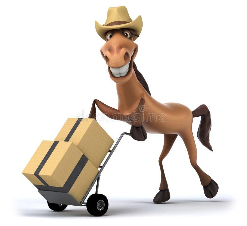 лошадь потехи fairground зрелищности carousel жизнерадостная традиционная иллюстрация штока