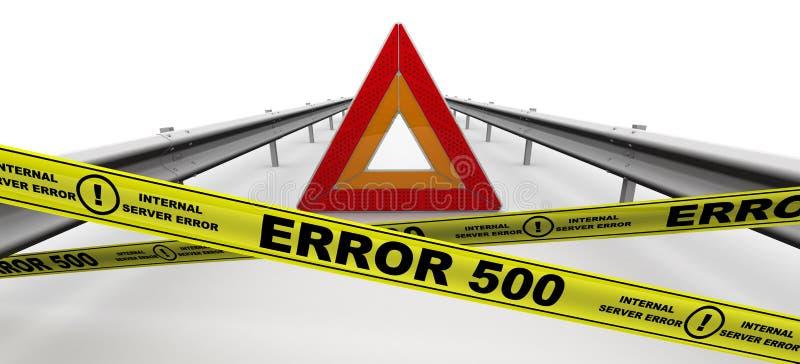 Ошибка сервера ОШИБКИ 500 внутренняя иллюстрация штока