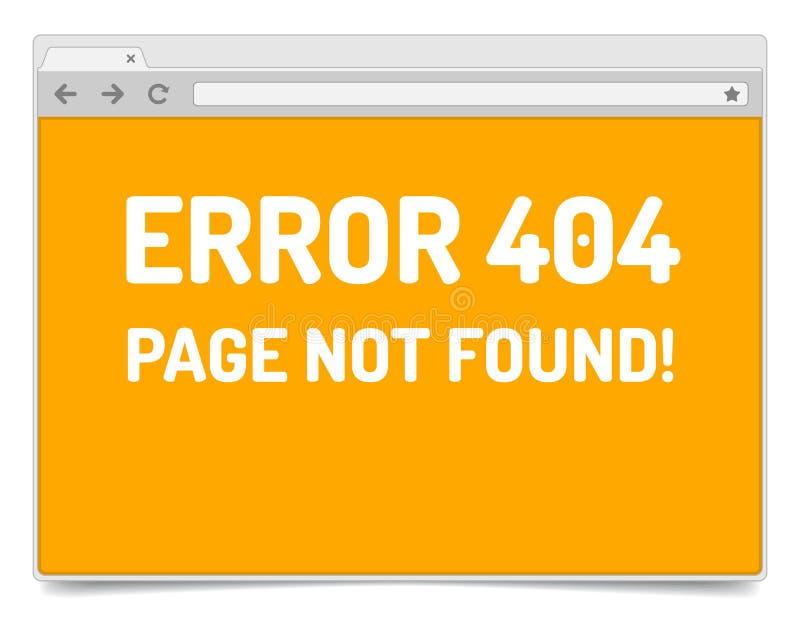 Ошибка страницы 404 на раскрытом окне интернет-браузера с тенью бесплатная иллюстрация
