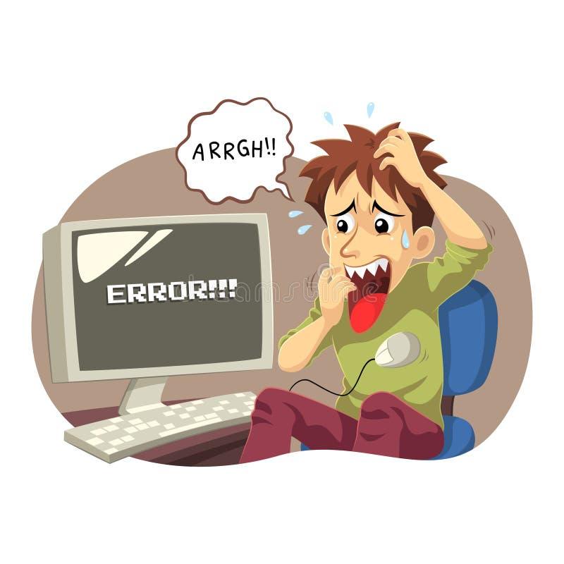 Ошибка электронно-вычислительной машины иллюстрация штока