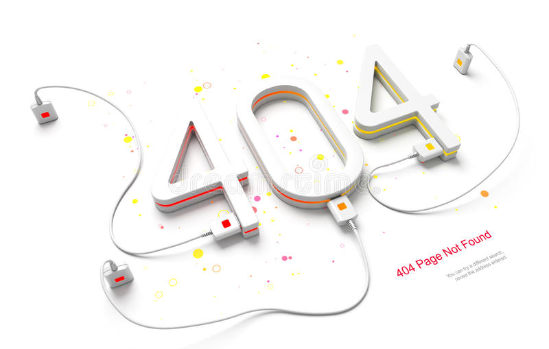 Ошибка 404 бесплатная иллюстрация