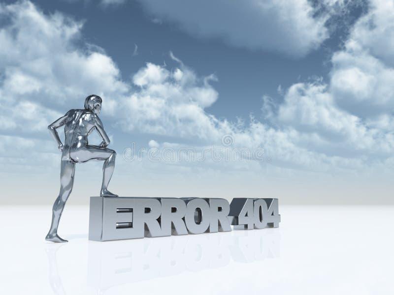 ошибка 404 иллюстрация вектора