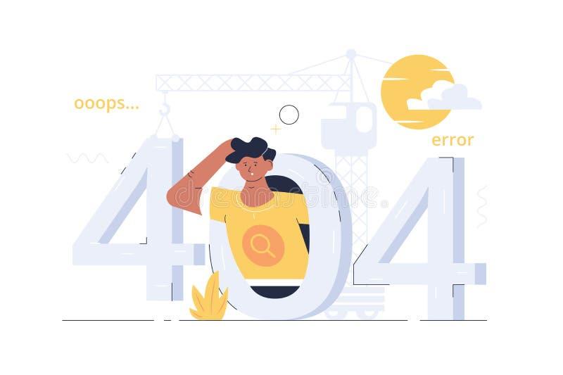 ошибка 404 ooops бесплатная иллюстрация
