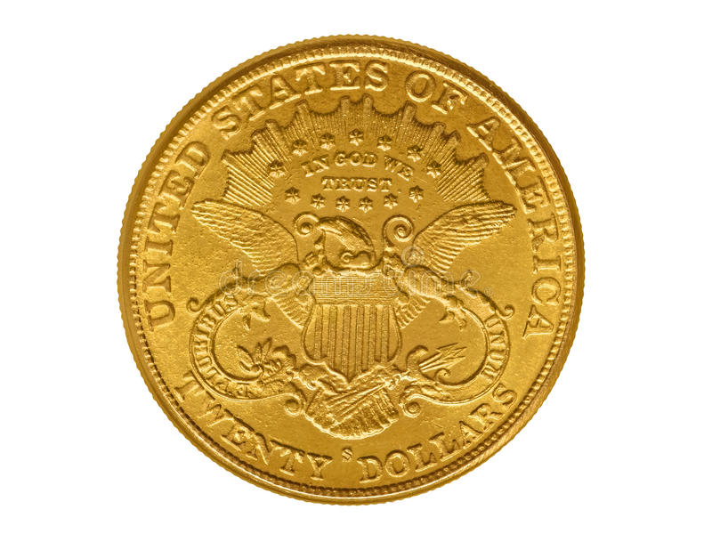 20 долларов золотой монетки от 1882 стоковые фото