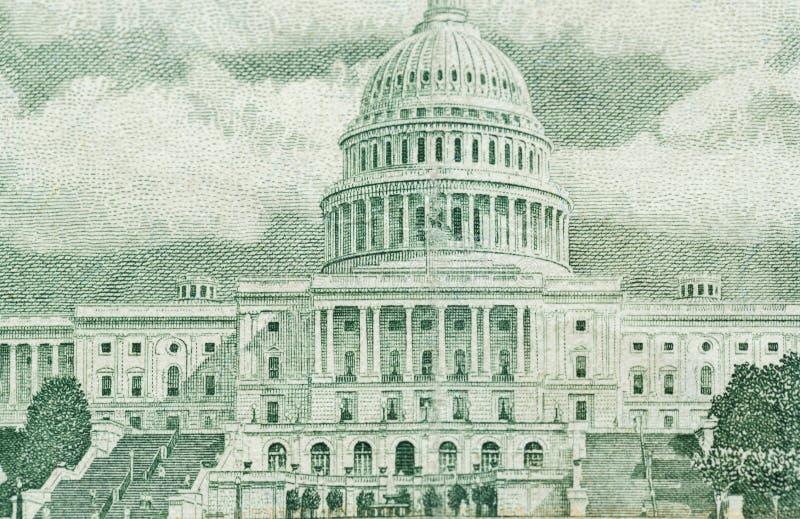 100 долларов счета в конце валюты США вверх стоковое фото