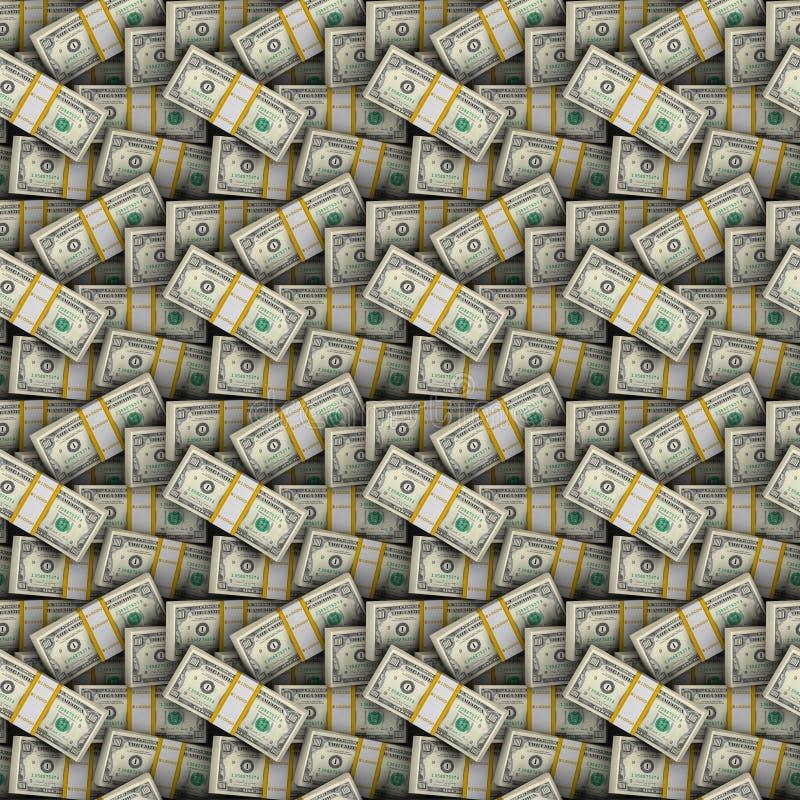 доллары предпосылки безшовные стоковое изображение rf