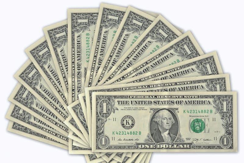 доллары примечаний стоковое изображение rf