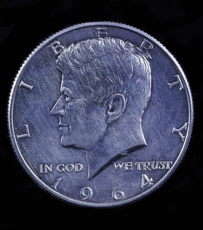 доллар половинный Кеннедай стоковое фото rf