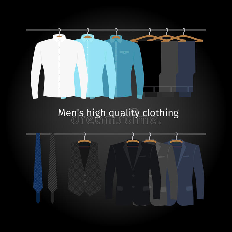 Одежда бизнесменов вскользь иллюстрация вектора
