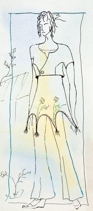 Одежда лета женщин бесплатная иллюстрация