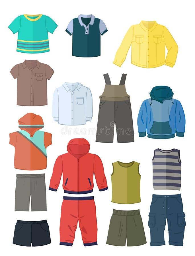 Одежда для мальчиков в плоском дизайне бесплатная иллюстрация