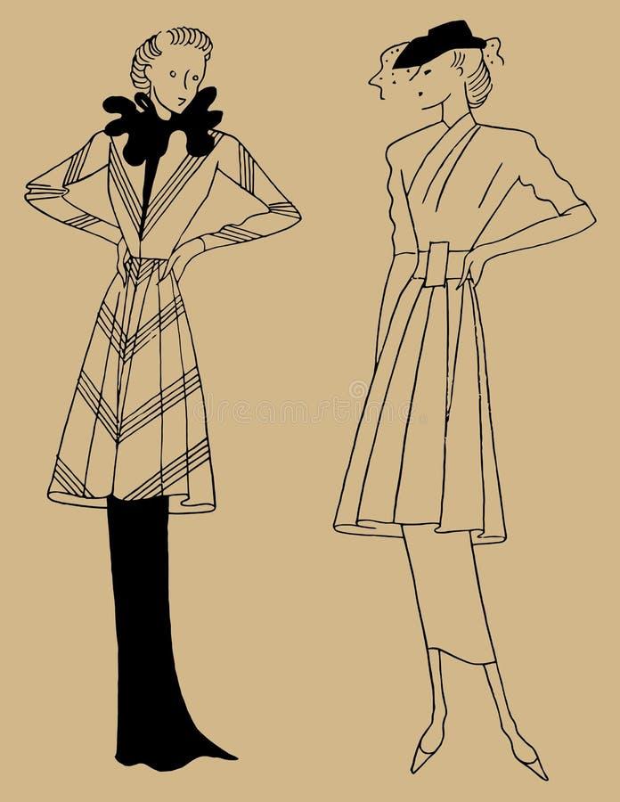 Одежда 30s женщин стоковые изображения
