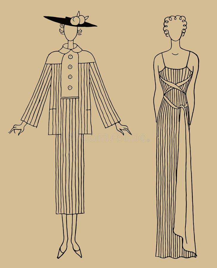 Одежда 30s женщин стоковая фотография