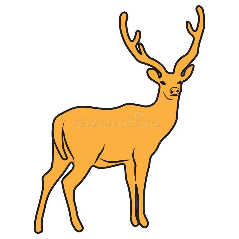 Олени животного иллюстрации дизайна шаржа значка иллюстрация штока