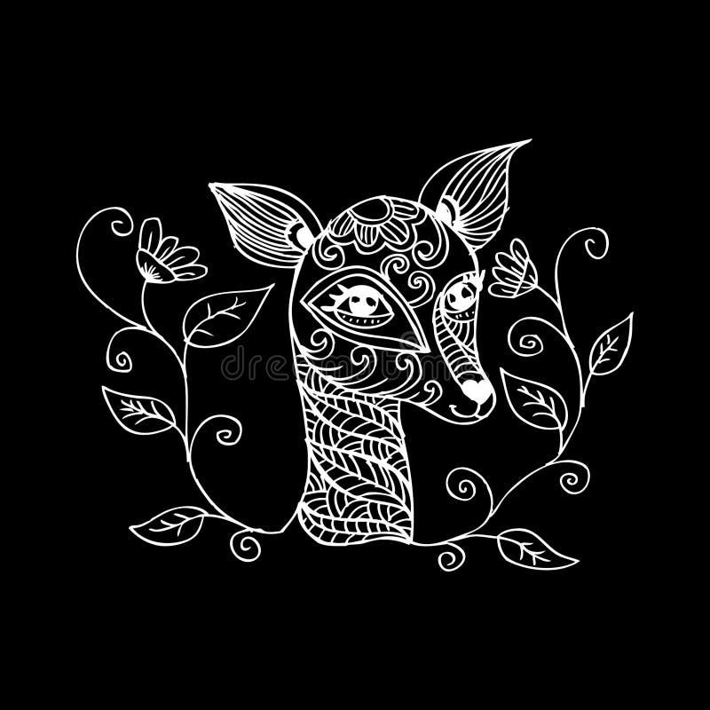 олени младенца милые иллюстрация вектора