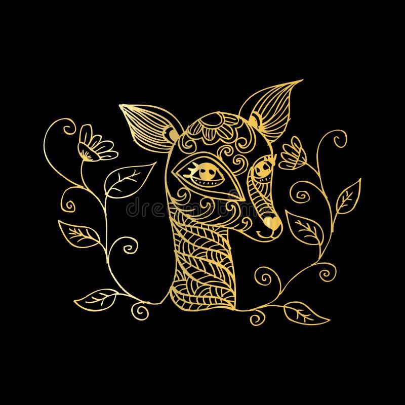 олени младенца милые иллюстрация штока