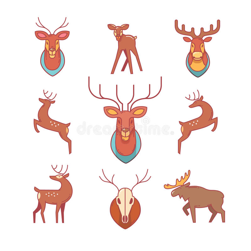 Олени, лоси, antlers и рожки, заполнили голову оленей бесплатная иллюстрация