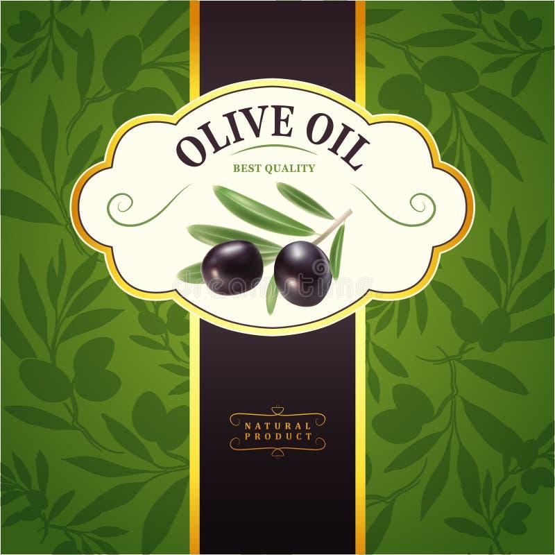 Оливковая ветка вектора декоративная Для ярлыка, пакет бесплатная иллюстрация
