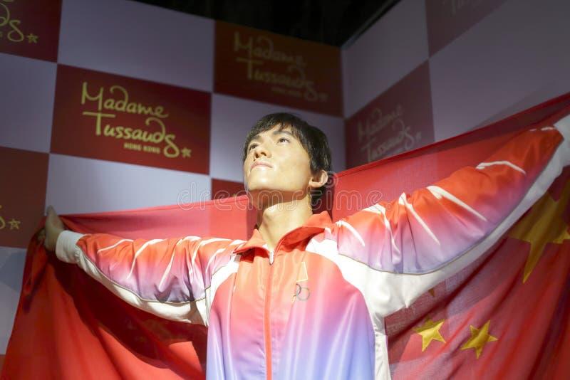 Олимпийская диаграмма воска liuxiang чемпиона стоковые фотографии rf